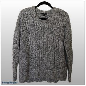 H&M Cable Knit Long Sleeve Sweater  Black/White M